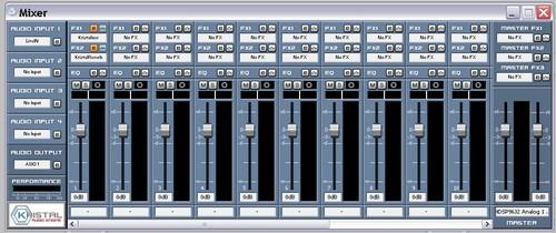 Kristal Audio Engine console des voix